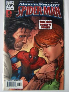Marvel Knights Spider-man #13 DF Signed Billy Tan COA Ltd 199 Wolverine